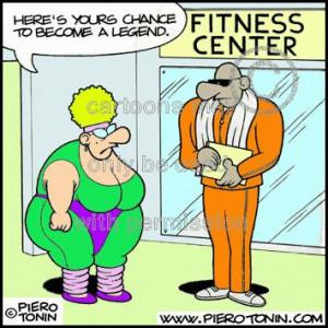 Cartoon: Fitness (medium) by Piero Tonin tagged gyms,gym,fitness,tonin ...