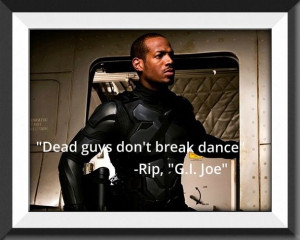 GI Joe movie quotes.