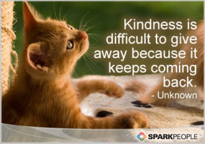 Motivational Quote - Kindness is difficult to give away because it ...