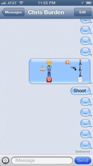 Jacinda Russell, Emoji Art History: Chris Burden
