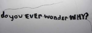 do you ever wonder why?