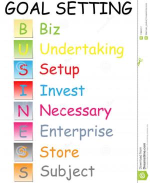 Business Goal Setting...