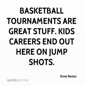 Basketball tournaments are great stuff. Kids careers end out here on ...