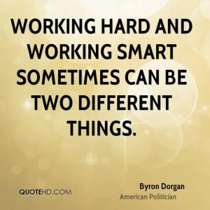 圖片標題: Working hard and working smart sometimes …