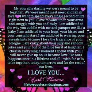 My adorable darling we were meant to be together. We were meant meet ...