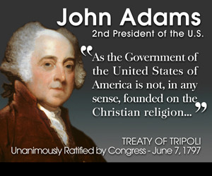... on the christian religion signed by president john adams and congress