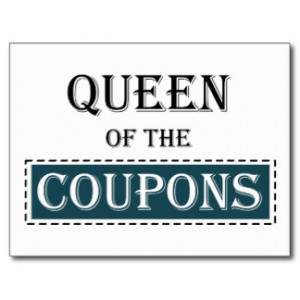 Queen of the Coupons Postcards