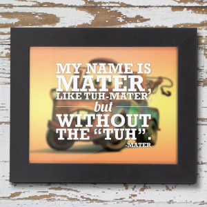 Mater Quote Poster