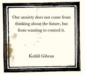how to stop thinking and worrying about the future