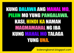 Tagalog Quotes Patama Sa Malalandi Banat - cheezy quotes