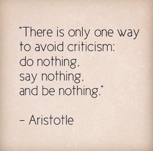 That's how to take criticism.
