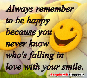 Beautiful Smile Quote Pic | Love With You Smile Quote For Facebook