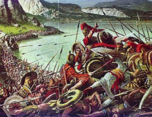 under the command king Xerxes the Persians attacked again. And they ...