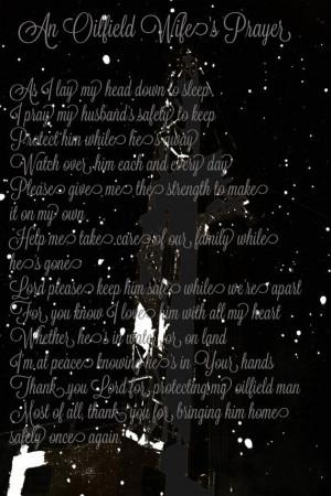 Oilfield Wife's Prayer