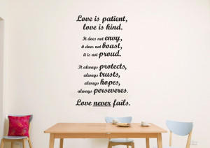 Love Is Patient Wall Quote