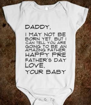 Happy Pre Father's Day Baby Onesie from Glamfoxx