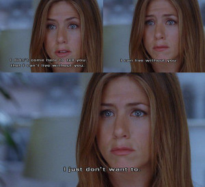 ... beautiful, cute, film, jennifer aniston, love, movie, quote, romance