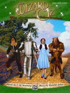 Wizard of Oz Deluxe Songbook Piano Vocal Chords by E y Harburg Paperba