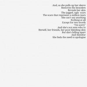 Self Harm Quotes Pictures For self harm poems.