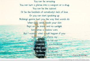 Sara Bareilles Quotes Found On Justlyrics Tumblr Com