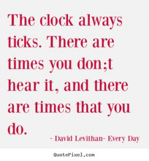 Every Day: David Levithan. Quote about life.