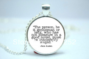 10pcs/lot Jane Austen Quote About Reading, Quote Necklace, Jane Austen ...