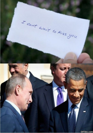 Obama vs. Putin - Funny Pictures, MEME and Funny GIF from GIFSec.com