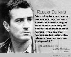 Robert De Niro…says!