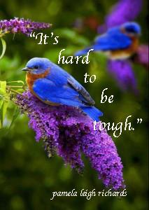 Blue Bird Purple flower pamela quote