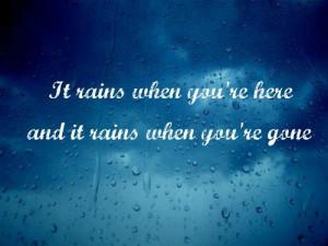 quotes on rainy weather