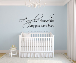 Pictures of Angels Nursery Wall Quote Vinyl Wall Art Decal Sticker on ...