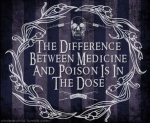 creepy, death, drugs, goth, grunge, medicine, needles, poison, quote ...