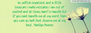 Cover Marilyn Monroe Selfish Quote Facebook Timeline Nude and Porn ...