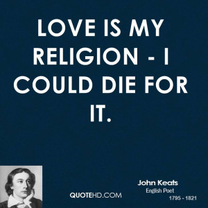 John Keats Love Quotes