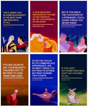 Disney Quotes Mulan, Hercules, Pocahontas, The Little Mermaid, Aladdin ...