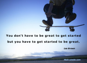 motivational picture of skateboard in the air with the quote: You ...