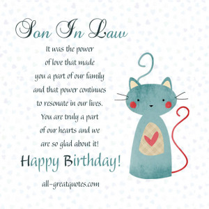 Free Birthday Cards For Son In Law - It was the power of love that ...