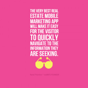 real estate mobile marketing quote by realWITS.com