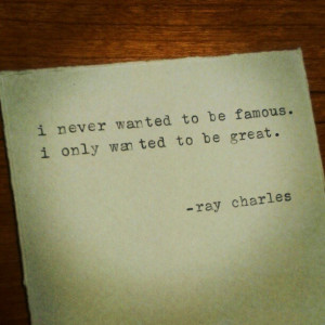 Very big difference! Ray Charles #quote