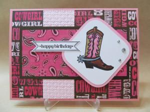 Happy Birthday Cowgirl Boots Cowgirl happy birthday card