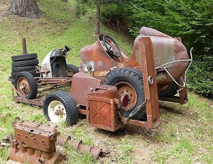 old race car and trailer 1946 perfect to tow behind rat rod pick up ...