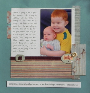 Ideas for Scrapbook Pages about Brothers - Jennifer Schmidt