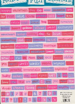... affection and anniversary spell out your own message and sayings with