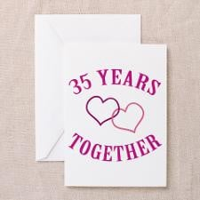 35th Anniversary Two Hearts Greeting Cards (Pk of for