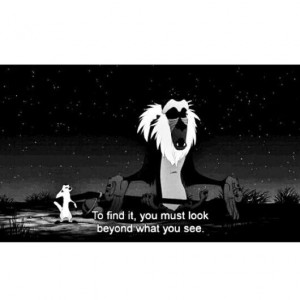 Lion King quotes and sayings. Rafiki.