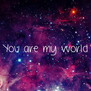 galaxy, love, quote, world