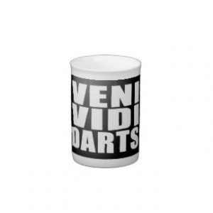 Funny Darts Players Quotes Jokes : Veni Vidi Darts Bone China Mugs