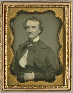 This daguerreotype of Poe was made by William Pratt approximately 3 ...