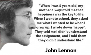 lennon happy quote john lennon john lennon happy john lennon happy ...