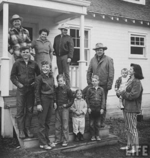 Image detail for -Walter Brennan and his family - Sitcoms Online Photo ...